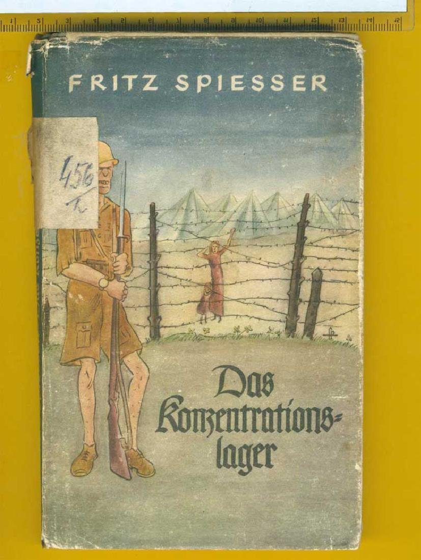 WW2 Book Concentration Camp, 1940, gift for NSDAP