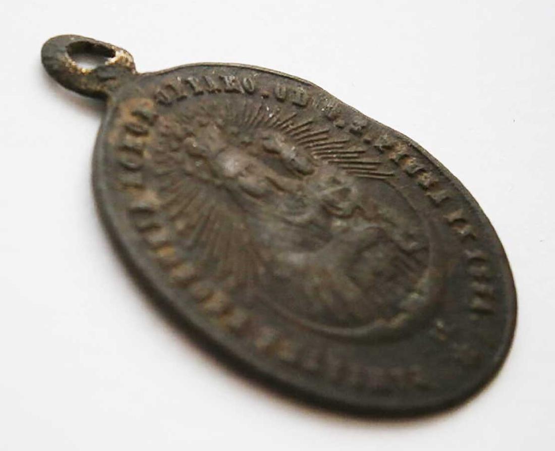 Unusual Poland WW2 Medalion w. STAR of DAVID - 3
