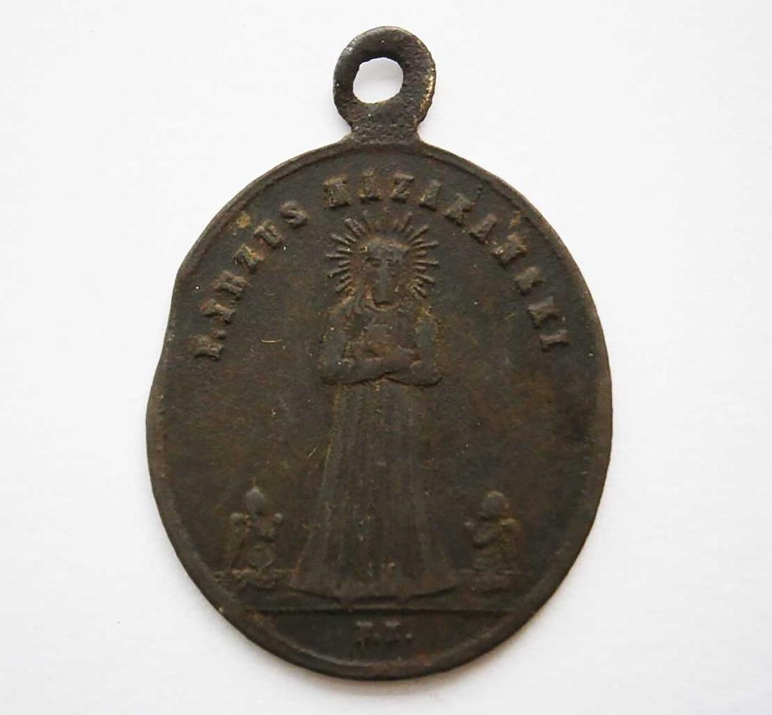 Unusual Poland WW2 Medalion w. STAR of DAVID - 7