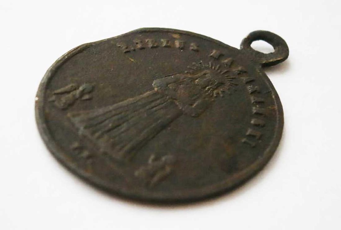 Unusual Poland WW2 Medalion w. STAR of DAVID - 9