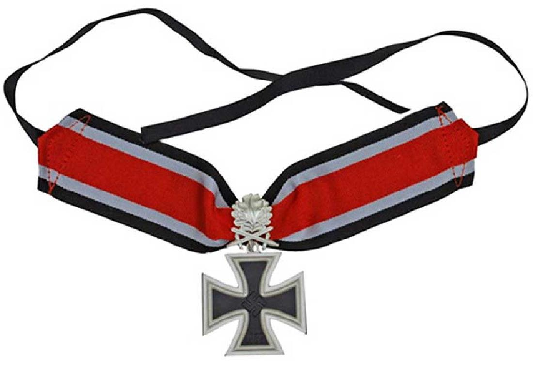 German WW2 KNIGHT CROSS NECK RIBBON LOOP,  MARKED - 7
