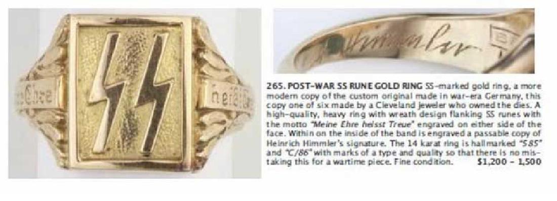 GERMAN WW2 SS Silver Ring w. TOTENKOPF SKULL - 4