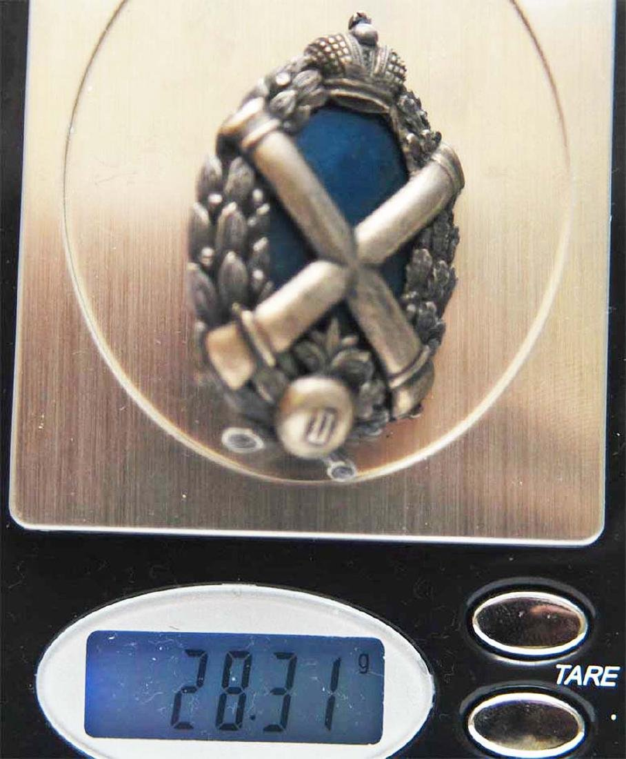 Russian Imperial Badge Kertch fortress Artillery - 9