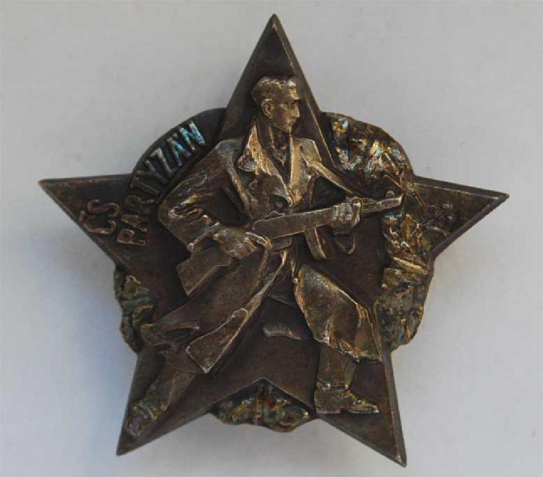 Czechoslovakian Fighter or PARTYZAN WW2 Badge + Pin