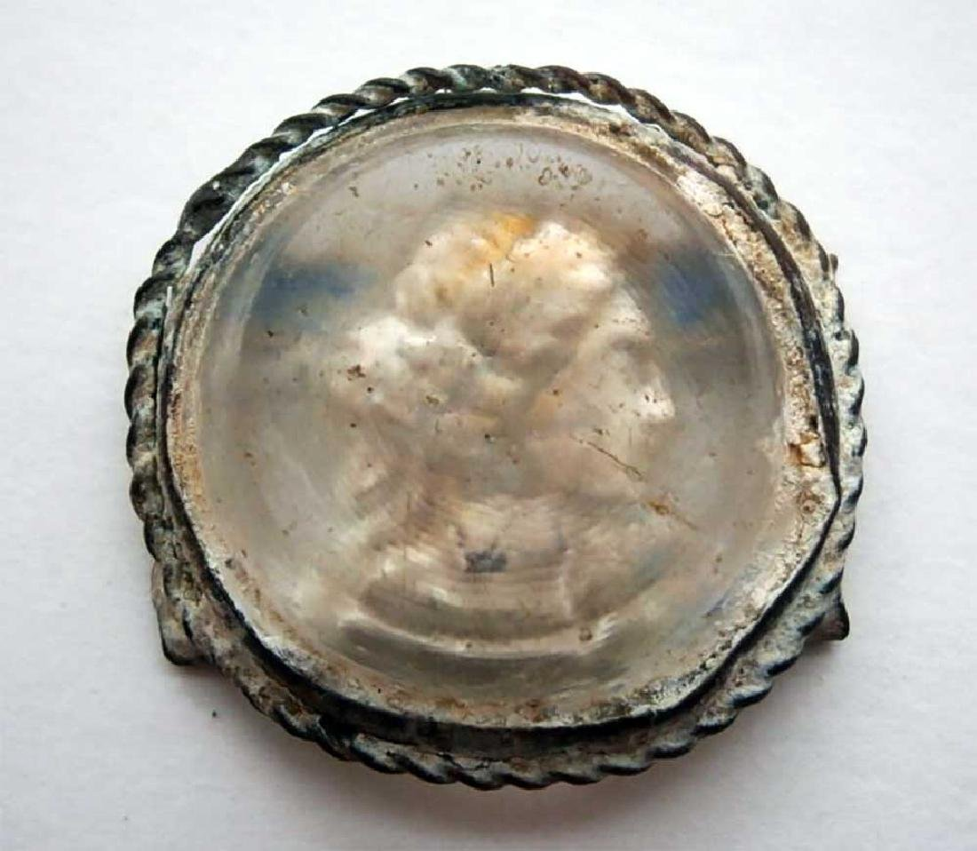 UNIQUE Antique Cameo Carving GLASS, Medieval period