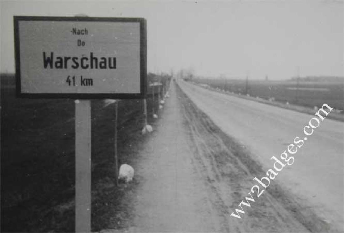 Original WW2 Photo of Warsaw Distance, 1939