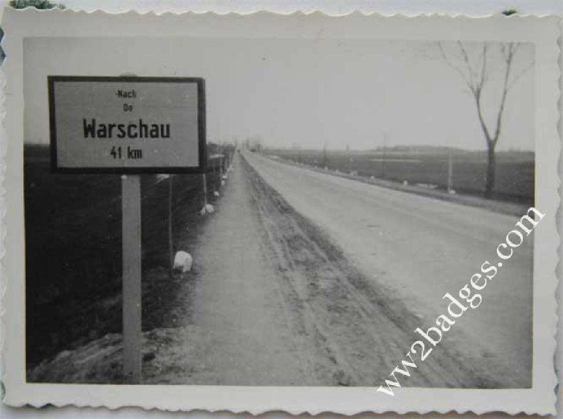 Original WW2 Photo of Warsaw Distance, 1939 - 2