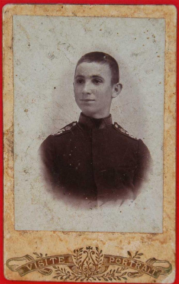 Russian Imperial military photo of cadet, 1907