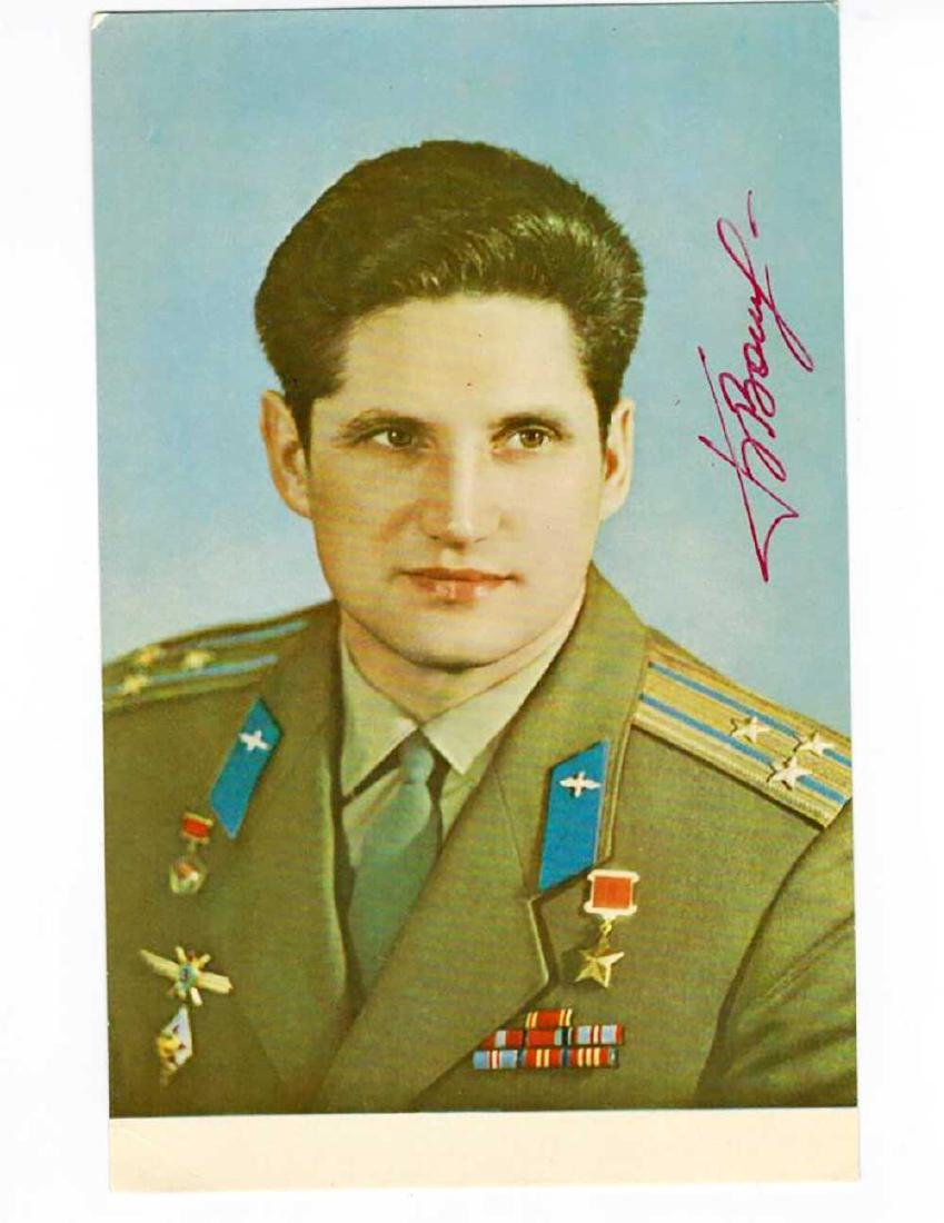Signed Photo Russian - Jewish Cosmonaught Boris Volnov