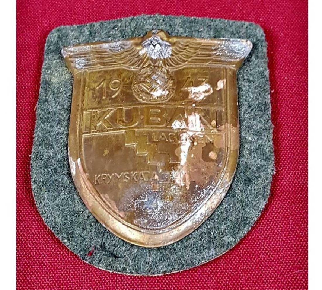 German WWII Army KUBAN Combat Sleeve Shield, 1943