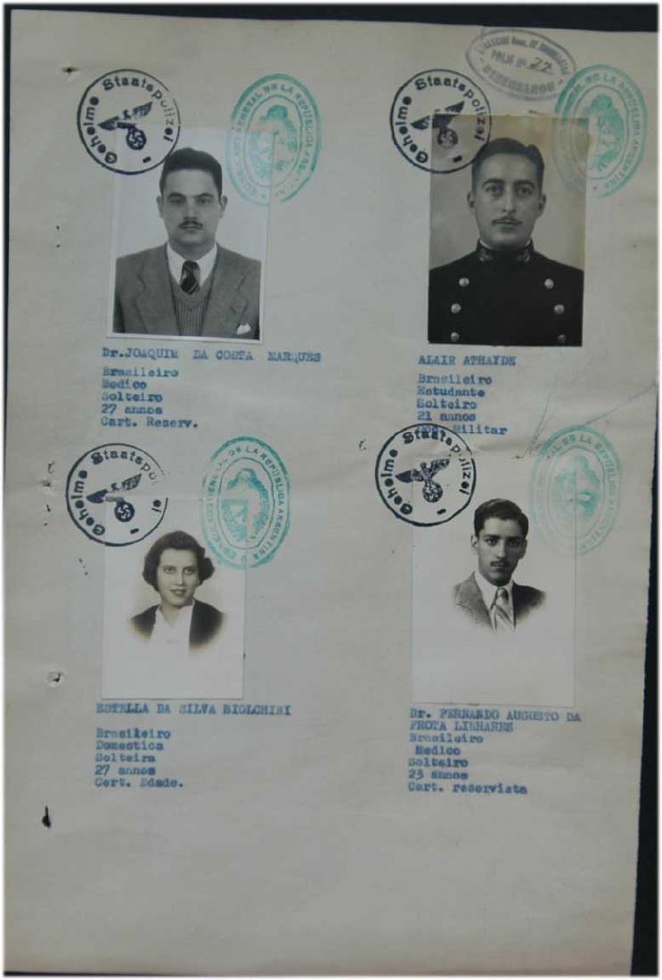 Original Jewish WW2 VISA DOCUMENT, 1939