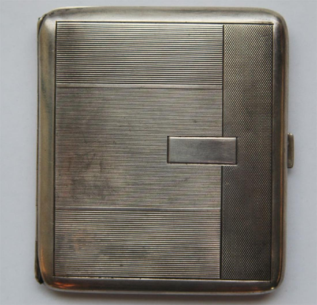 Russian Imperial Silver Cigarette Case,1900x Faberge