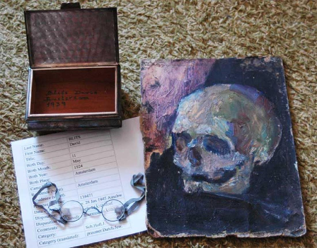 Jewellery box, stamped and signed + Picture + Gasses