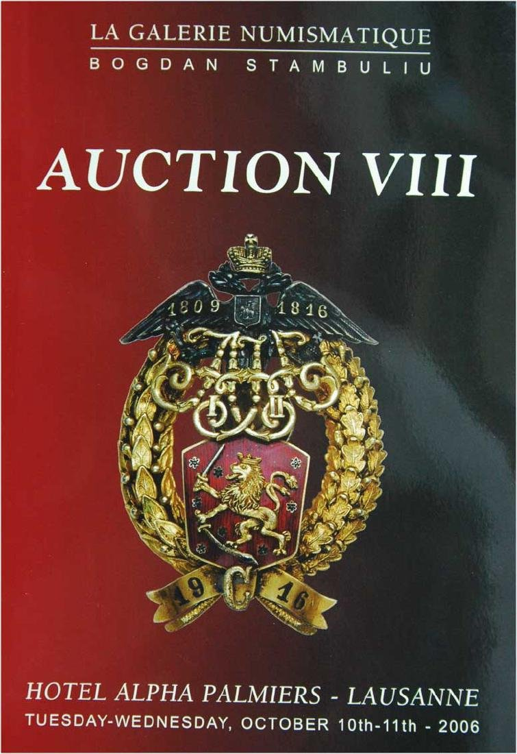 Catalogue of Auction VIII, La Galerie Numismatique