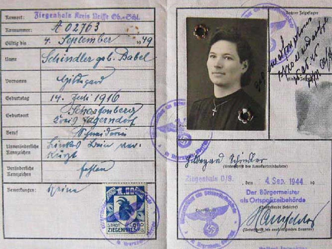 German ID card for Jewish Woman, 1944 - Valuable Worker
