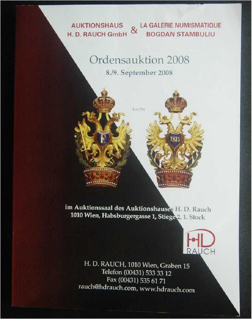 Catalogue of Ordens Auction, Rauch, Medals, Badges,