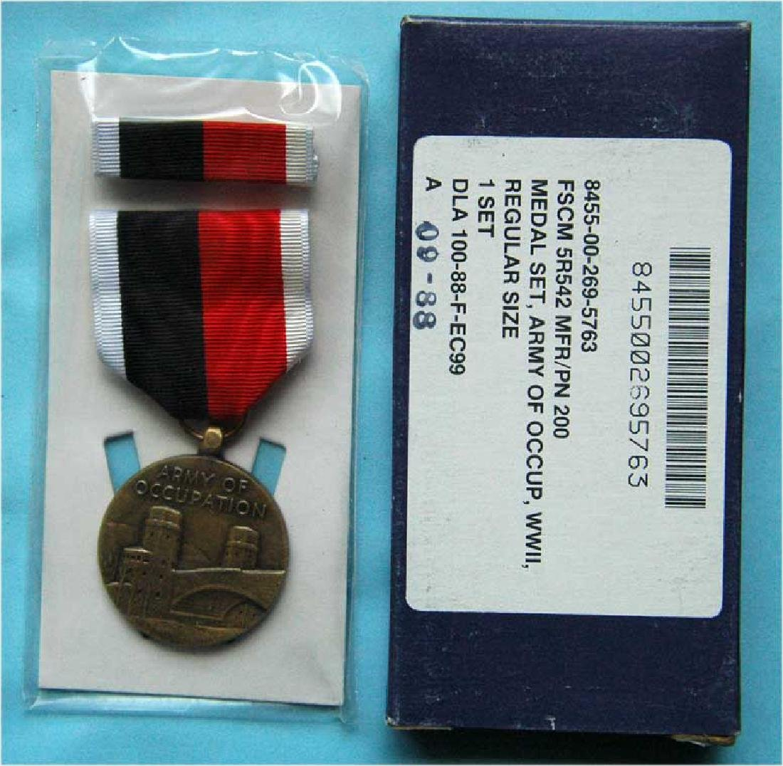 WW2 ARMY OF OCCUPATION MEDALS IN THE BOX