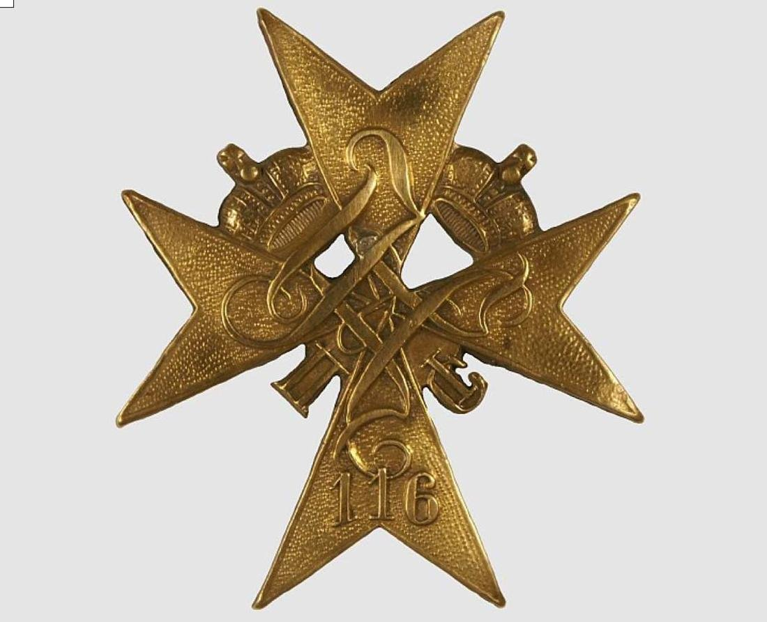 Russian Imperial Badge 116th Maloyaroslavets Infantry