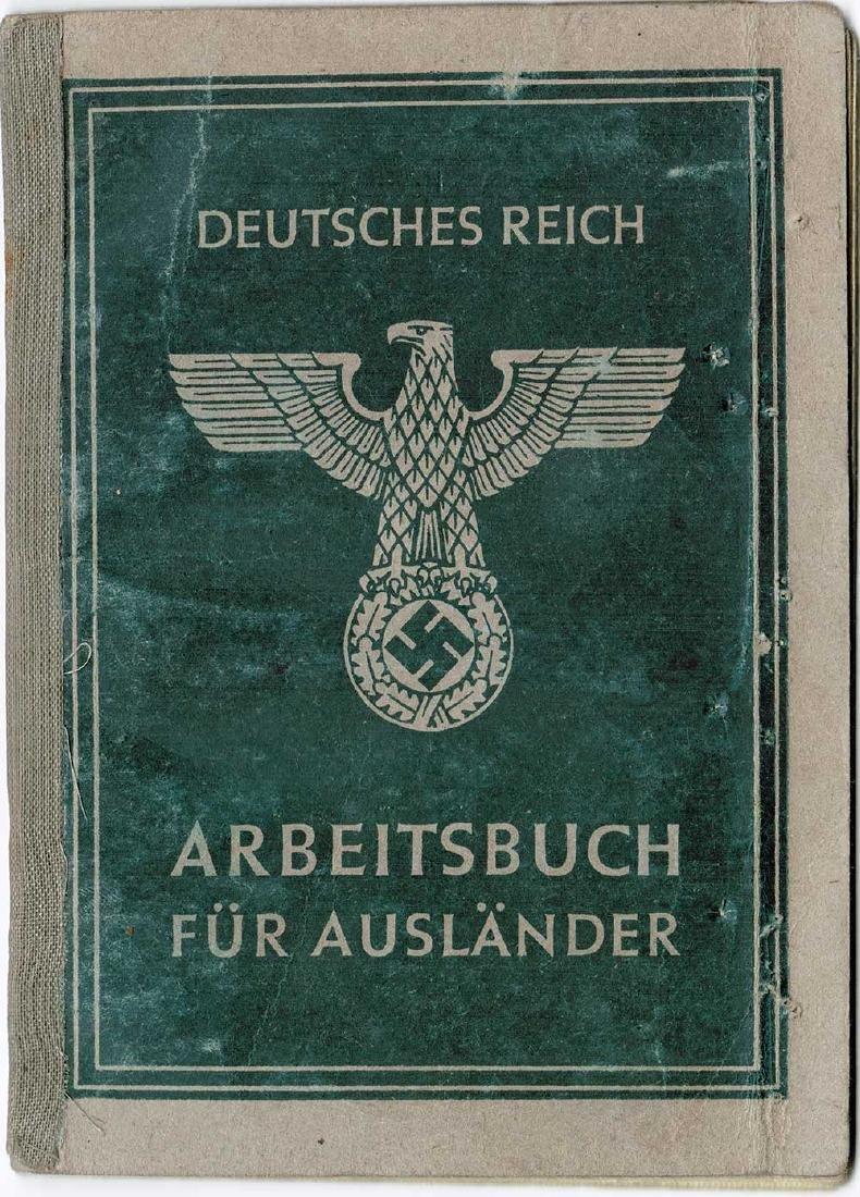 German WW2 Arbeitsbuch for Ukrainian worker - 10