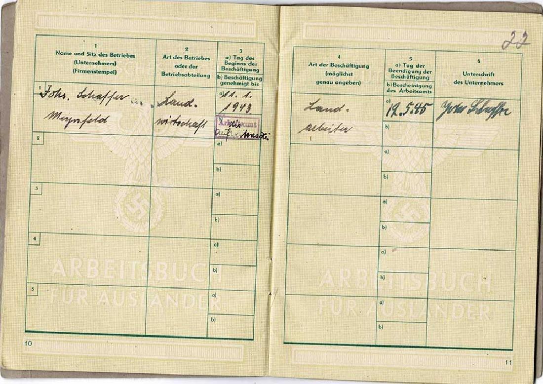 German WW2 Arbeitsbuch for Ukrainian worker - 2