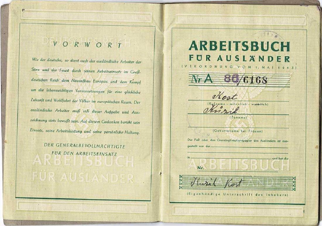 German WW2 Arbeitsbuch for Ukrainian worker - 3