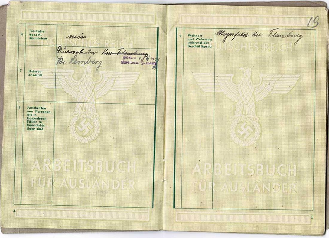 German WW2 Arbeitsbuch for Ukrainian worker - 4