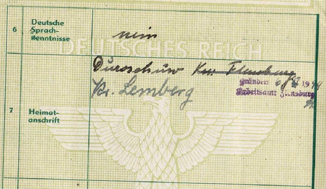 German WW2 Arbeitsbuch for Ukrainian worker - 5