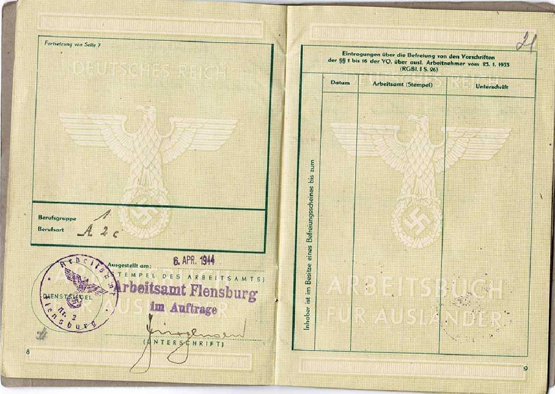 German WW2 Arbeitsbuch for Ukrainian worker - 7