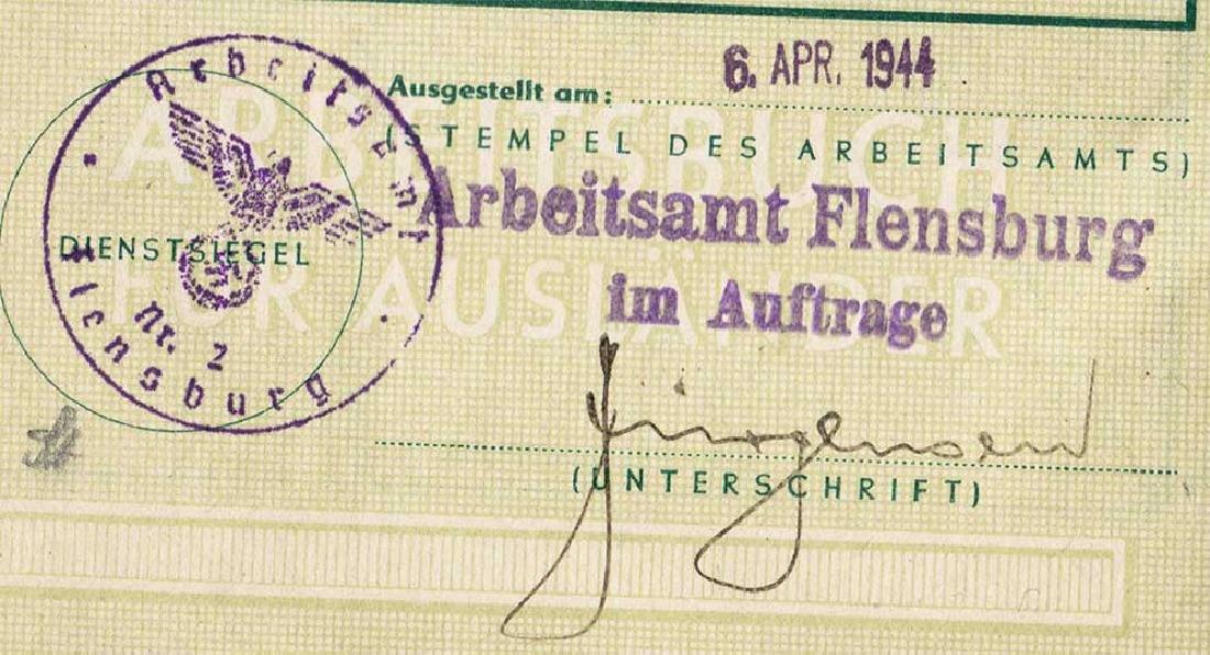 German WW2 Arbeitsbuch for Ukrainian worker - 8