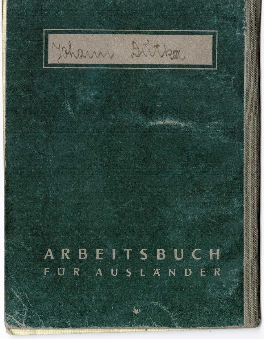 German WW2 Arbeitsbuch for Ukrainian worker - 9