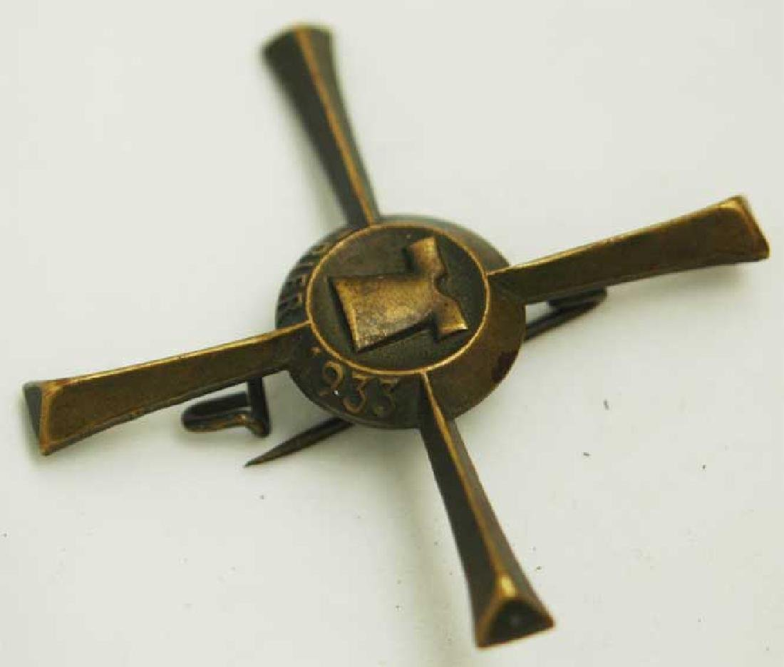 German WW2 badge cross, 1933, marked