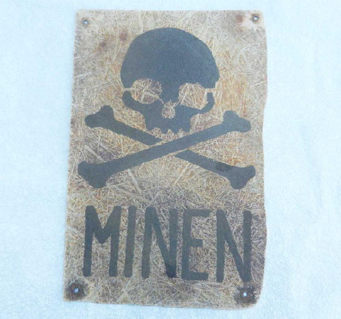 Very Rare German WWII PLATE MINEN, 1942