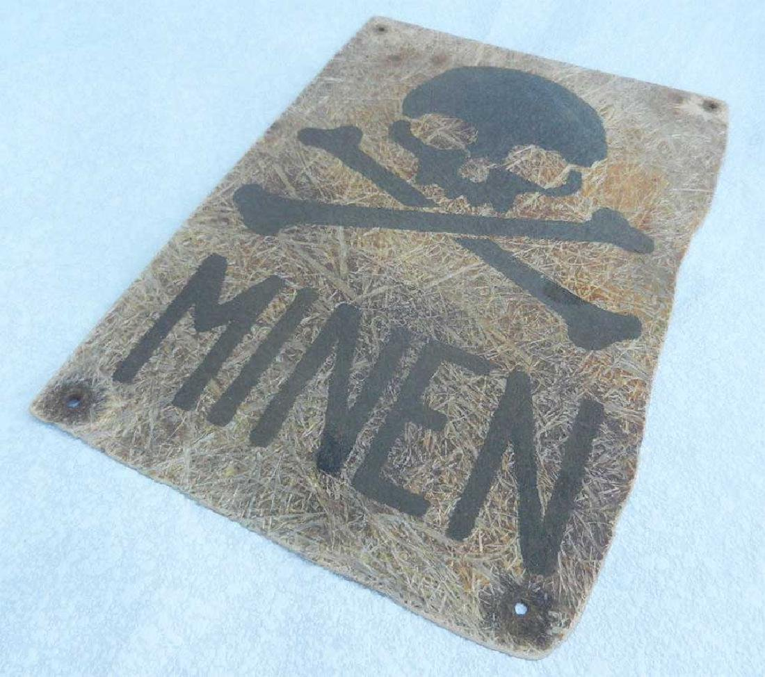 Very Rare German WWII PLATE MINEN, 1942 - 2
