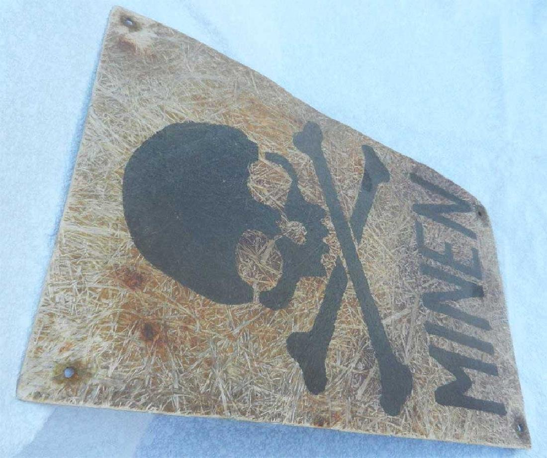 Very Rare German WWII PLATE MINEN, 1942 - 3