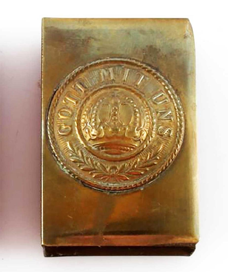 Original German WWI GOTT MIT UNS Matchbox Cover