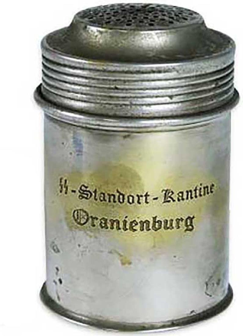 Original WW2 Salt/Pepper Shaker w. SS Markings, KZ KL