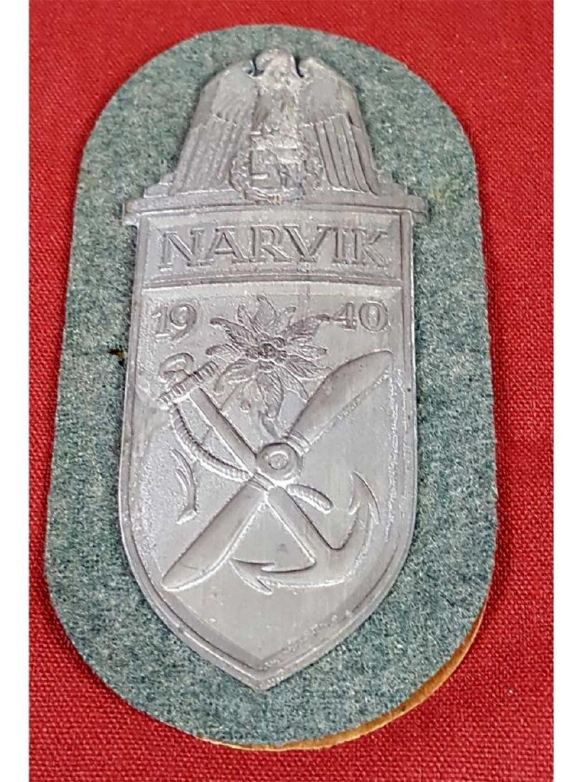 German WWII Army NARVIK Combat Shield for Luftwaffe,