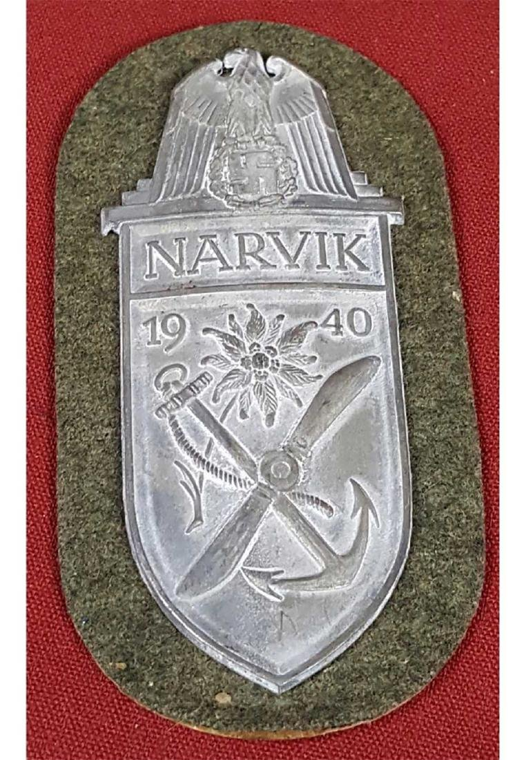 German WWII Army NARVIK Combat Sleeve Shield, 1940