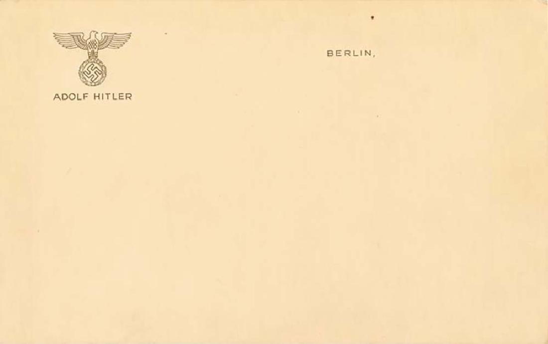 German WW2 Adolf Hitler STATIONERY, Berlin
