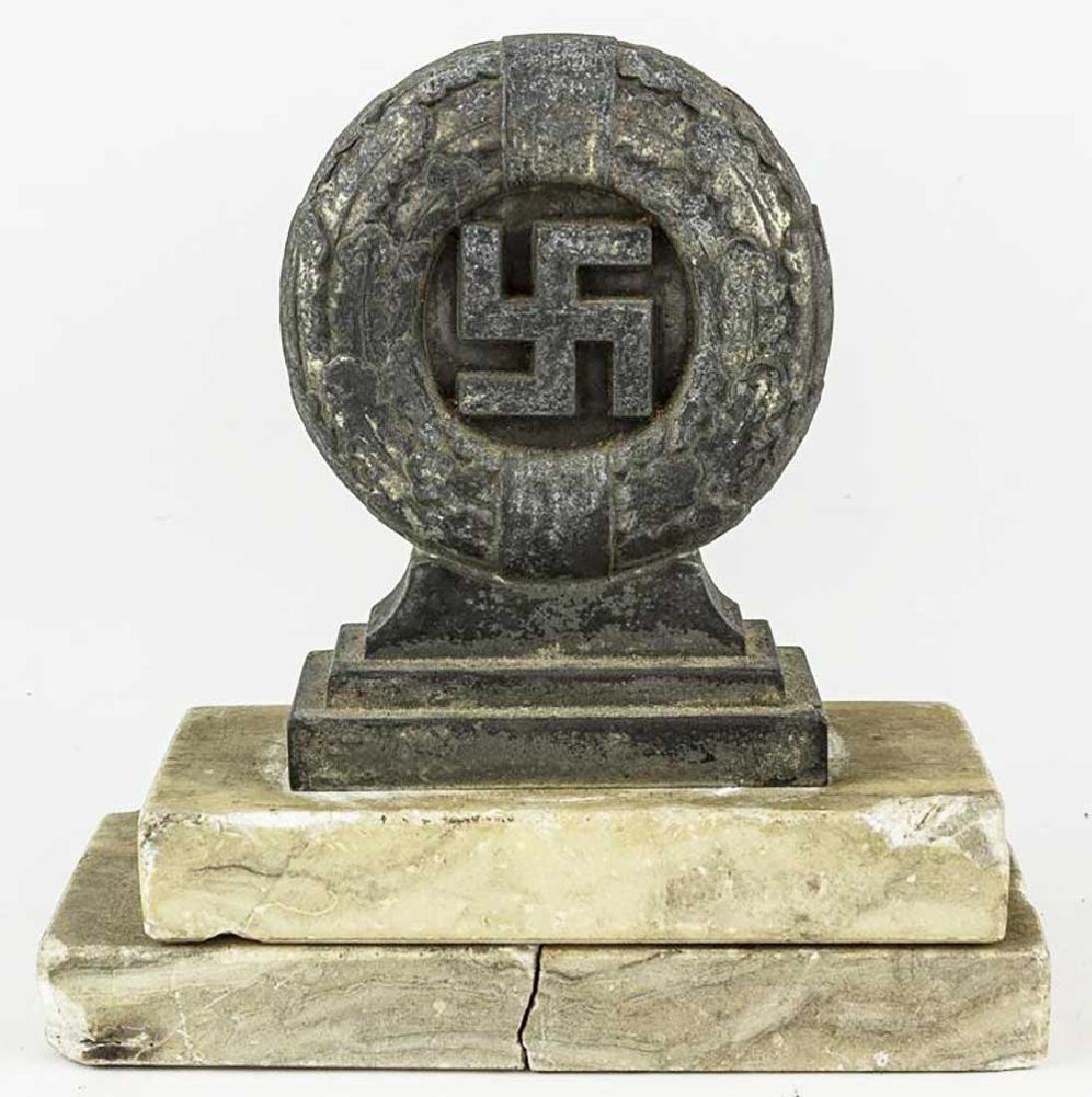 German WWII OAK LEAF WREATH DESK ORNAMENT