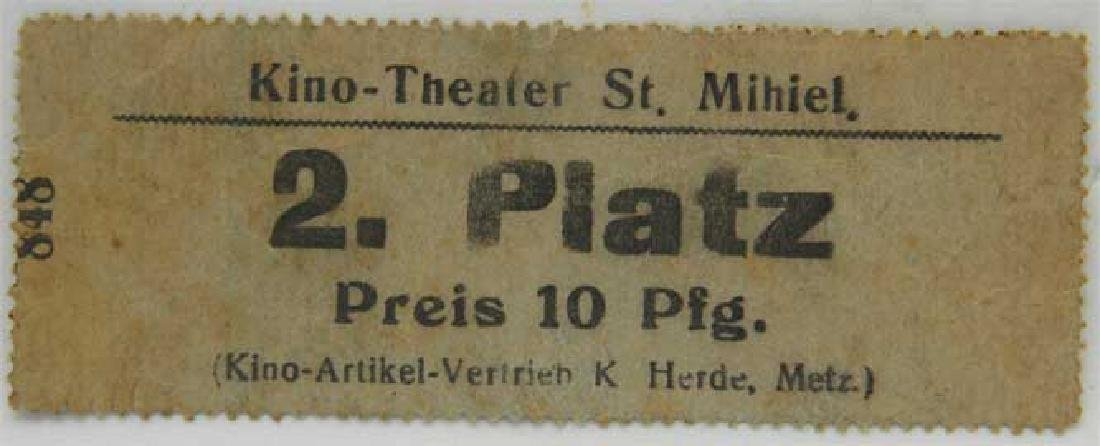 Original German WW2 Ticket for Kino Theater