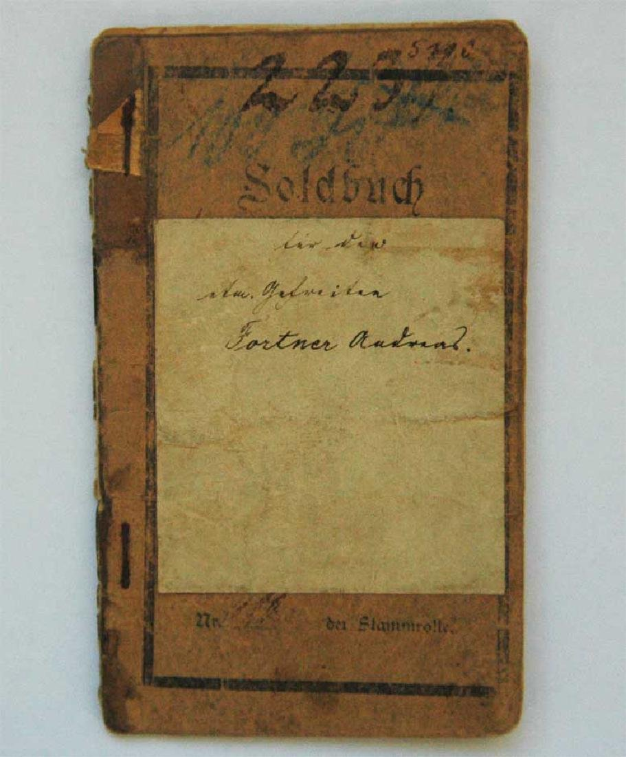 Original Rare GERMAN WW1 MILITARY PASS