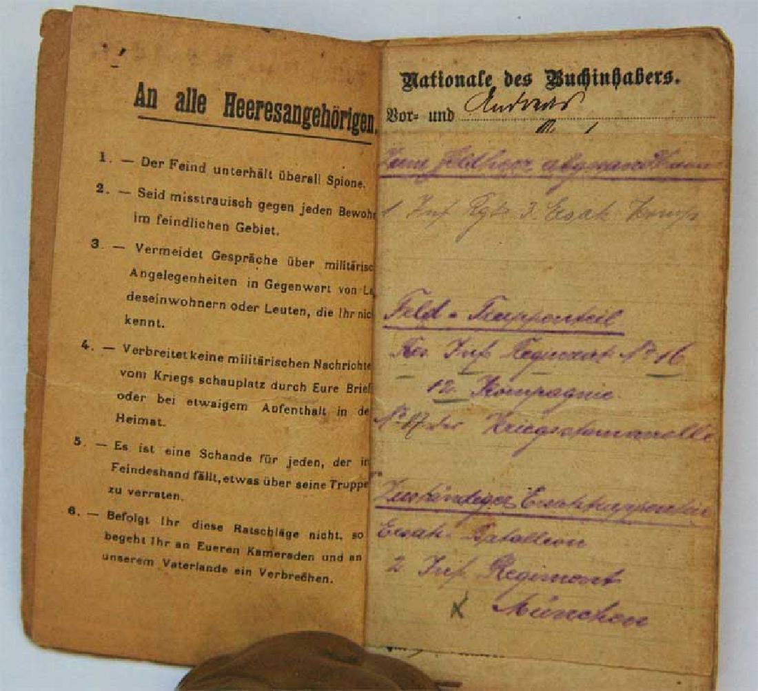 Original Rare GERMAN WW1 MILITARY PASS - 2
