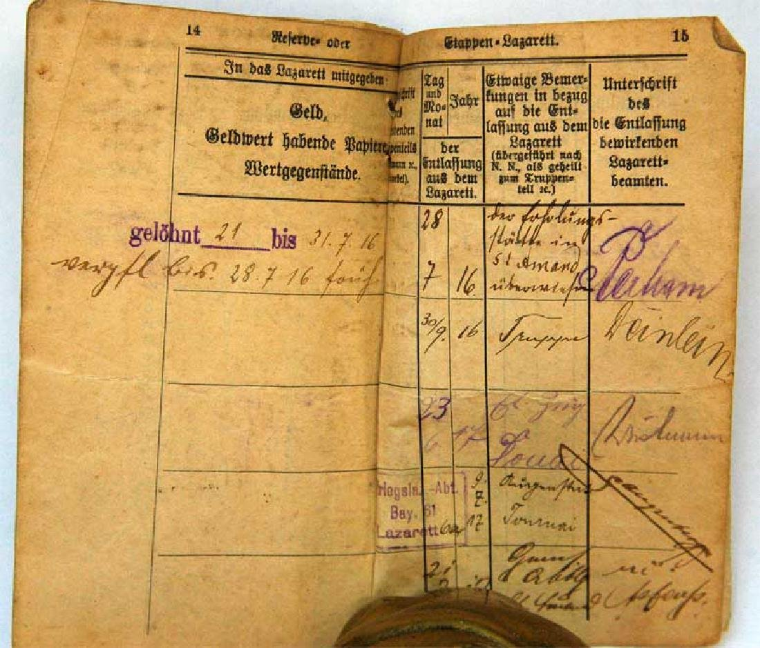 Original Rare GERMAN WW1 MILITARY PASS - 3