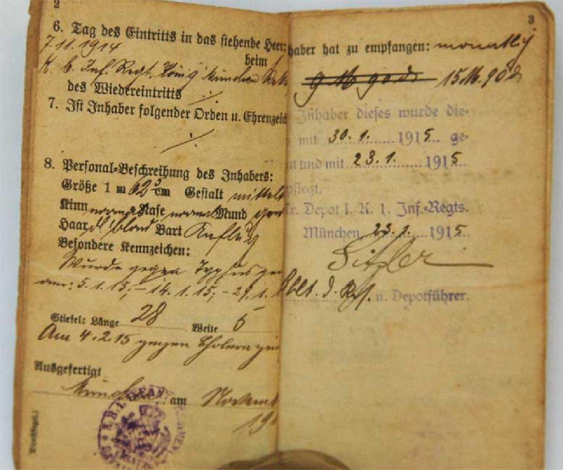 Original Rare GERMAN WW1 MILITARY PASS - 5