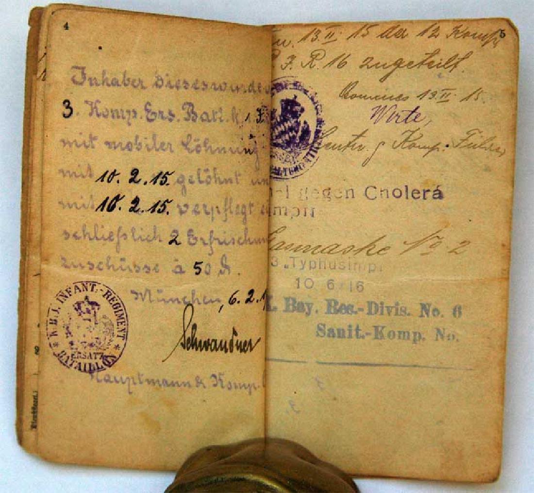 Original Rare GERMAN WW1 MILITARY PASS - 6