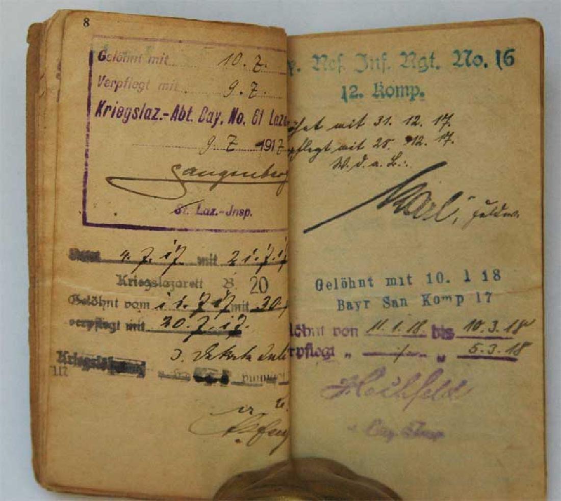 Original Rare GERMAN WW1 MILITARY PASS - 7