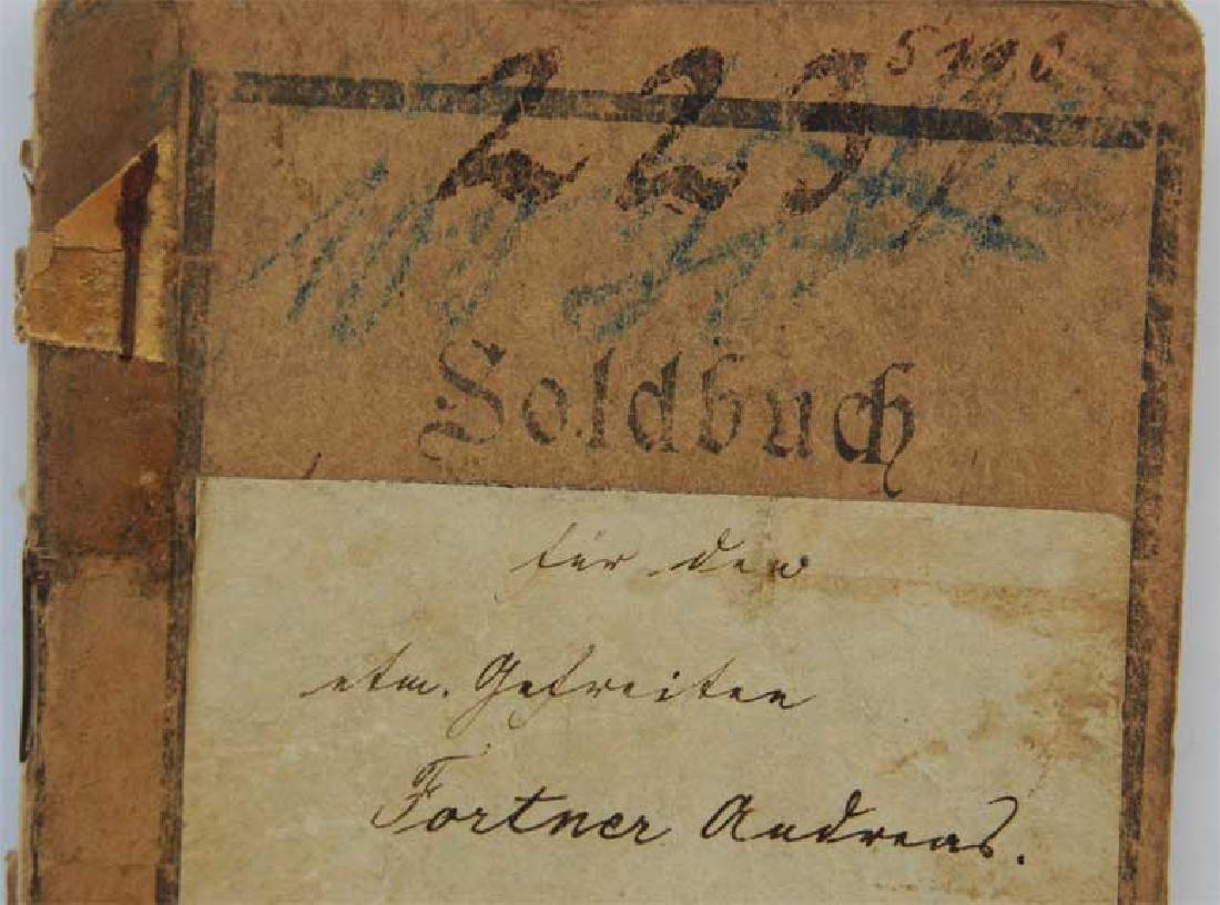 Original Rare GERMAN WW1 MILITARY PASS - 8