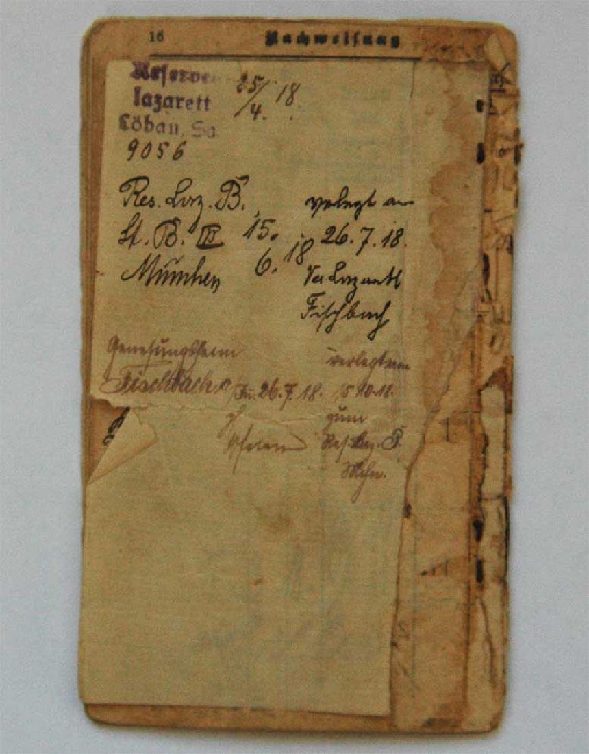 Original Rare GERMAN WW1 MILITARY PASS - 9