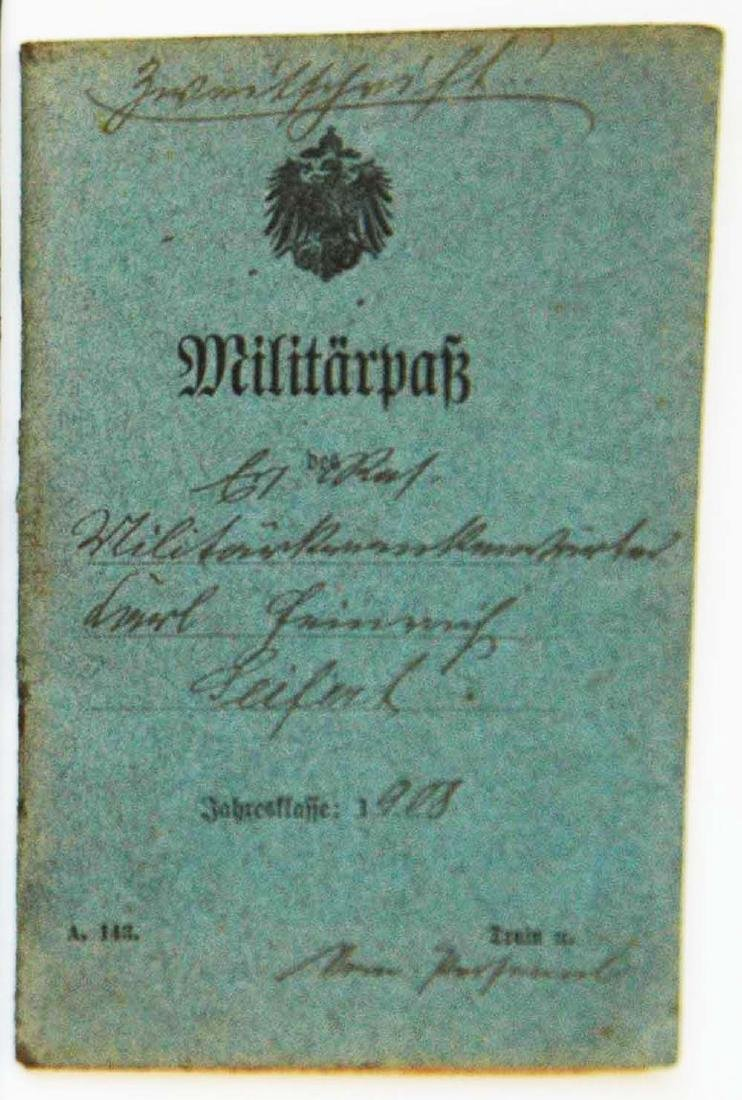 Rare Original GERMAN WW1 MILITARY ID PASS